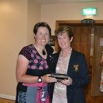 Deirdre Dillane accepting Nearest the pin prize