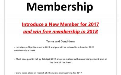 Free 2018 Membership