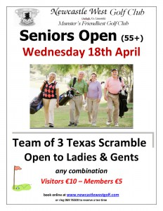 Seniors Open April 2018