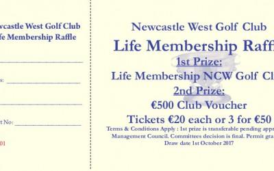 Life Membership Raffle