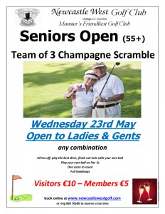 Seniors Open May 2018