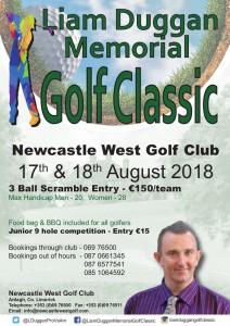 Liam Duggan 2018 Golf Classic