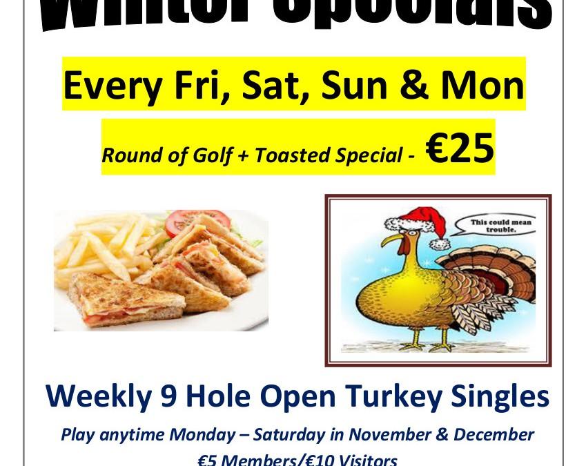 Winter Specials – November December