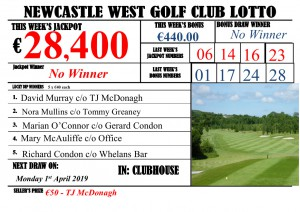 Lotto Results Monday 25th March 2019