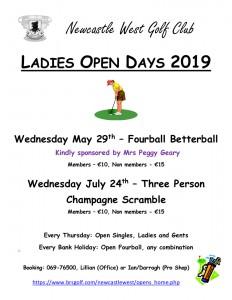 Ladies Open Days 2019